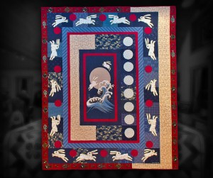 "Japanese Medallion - 80"" x 98"" - machine piecing and appliqué, custom machine quilted."